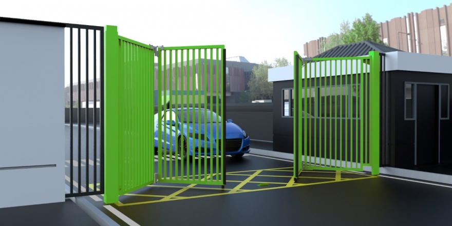 Bi-Folding Speed Gate - In A Choice of Colours